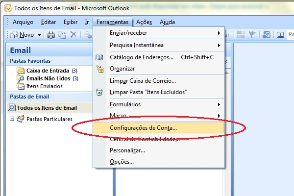 how to search in outlook 2007