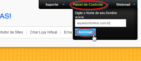 Como acessar o Painel de Controle da hospedagem Hotel da WEB